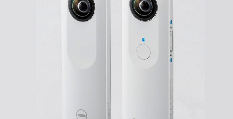 Ricoh Theta digital camera shoots spherical images in one go