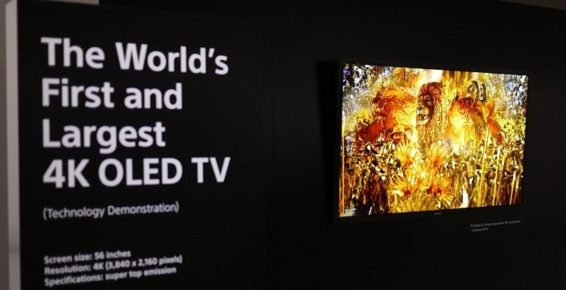 Sony: Our 56-inch 4k OLED TV is biggest & brightest (we just can't make it)