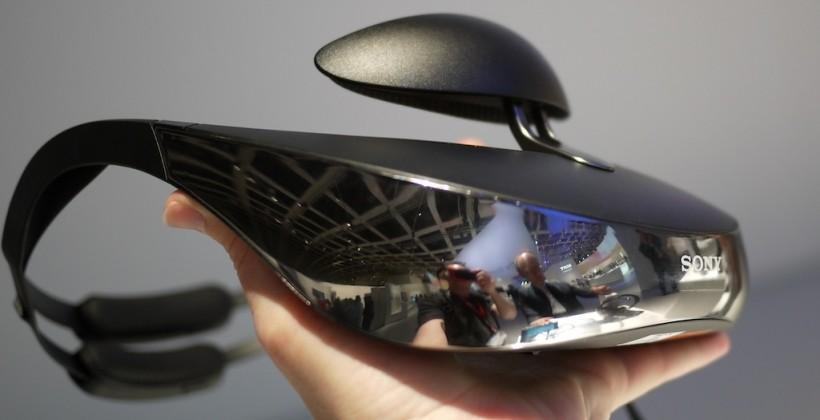Sony HMZ-T3W wireless head-mounted display hands-on