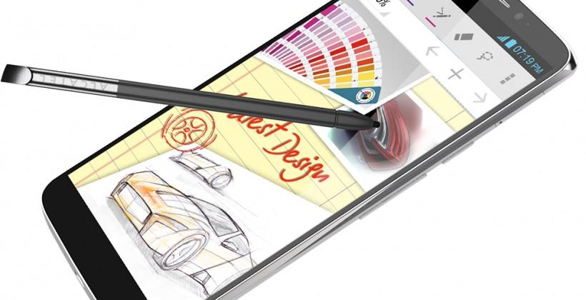 Alcatel One Touch Hero brings Note-like stylus, E Ink case, and pico projector