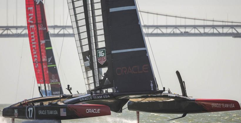 America's Cup winner Team Oracle takes second sailing race trophy