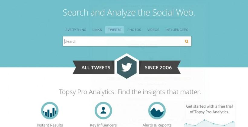 Topsy literally makes Twitter history, gathers every Tweet ever made