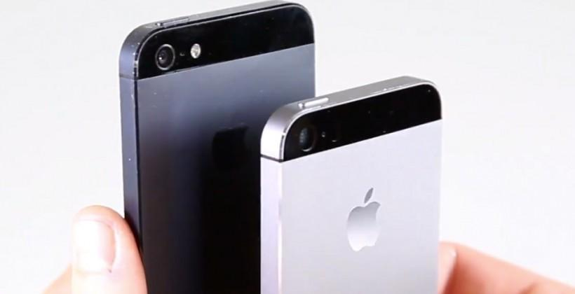 iPhone 5S in Graphite Gray compared to iPhone 5 side-by-side