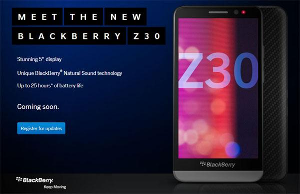 BlackBerry Z30 smartphone offers five-inch screen and BlackBerry 10.2 OS