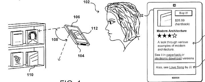 Amazon smartphone 3-D object matching service patent app surfaces