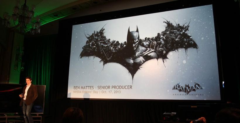 Batman Arkham Origins NVIDIA graphics optimizations and gameplay eyes-on