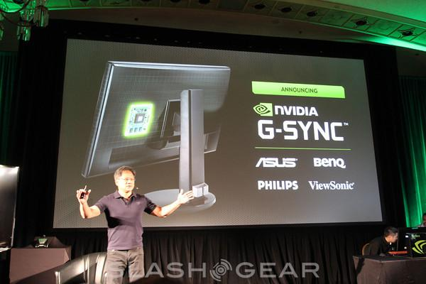NVIDIA G-Sync eyes-on shows slave gaming monitor in action