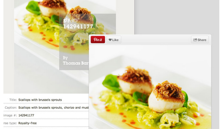 Pinterest partners with Getty Images to add pin data