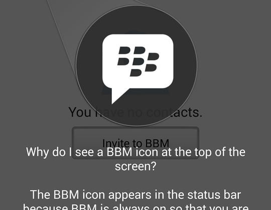 BBM Android and iOS apps hands-on