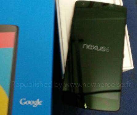 Nexus 5 details expand on shipping floor