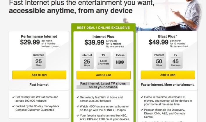 Comcast Internet Deals >> Comcast Announces New Internet Plus Offering Streaming Hbo