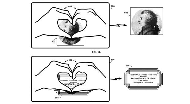 """Google patent utilizes real-life """"heart"""" hand gesture with Glass"""