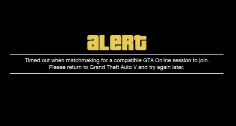 Grand Theft Auto 5 matchmaking