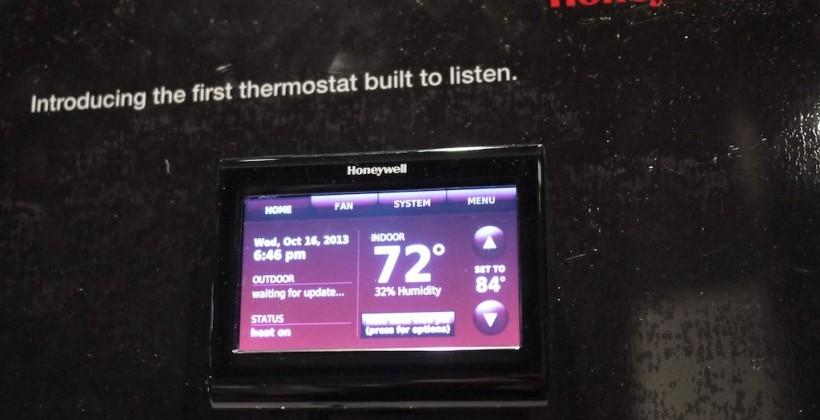 Honeywell WiFi Smart Thermostat with voice control hands-on