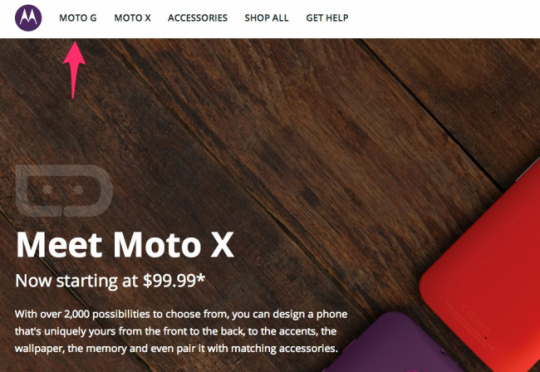 Moto G surfaces on Motorola website, disappears soon after