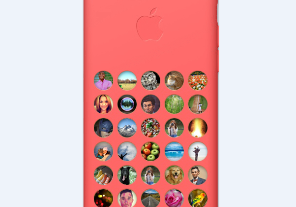 "Official iPhone 5c cases ""fixed"" with CaseCollage filler"