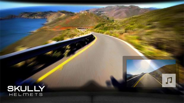 Skully P1 helmet has a rear view camera and augmented reality