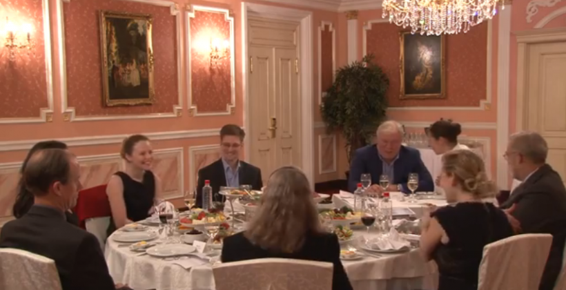 Edward Snowden Whistleblower Award reception video released by WikiLeaks
