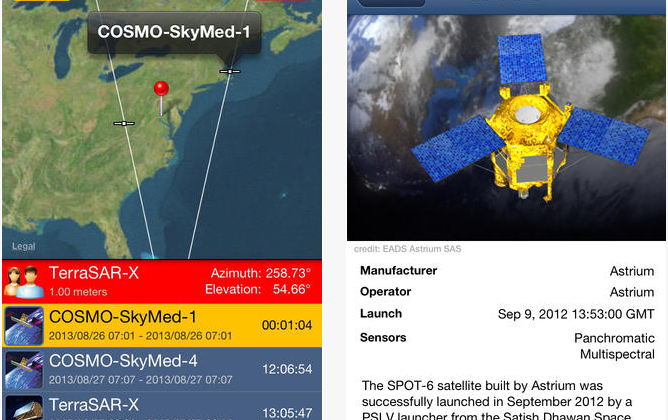SpyMeSat spy satellite tracking app lets you watch the watchers