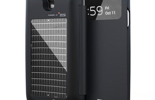 EnerPlex Surfr Samsung Galaxy S4 case has solar and battery power