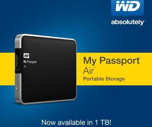 WD My Passport Air crams 1 TB of storage into aluminum enclosure for Macs