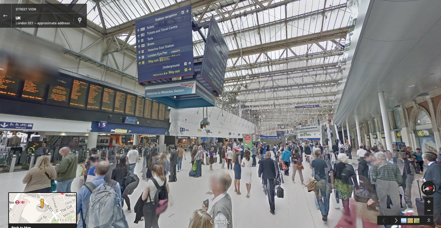 Google Maps Street View now guides you through big transit stations