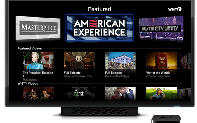 Apple TV software update brings on PBS and Yahoo Screen