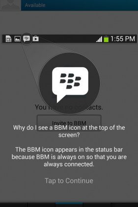 BlackBerry pushes BBM with Android preloads
