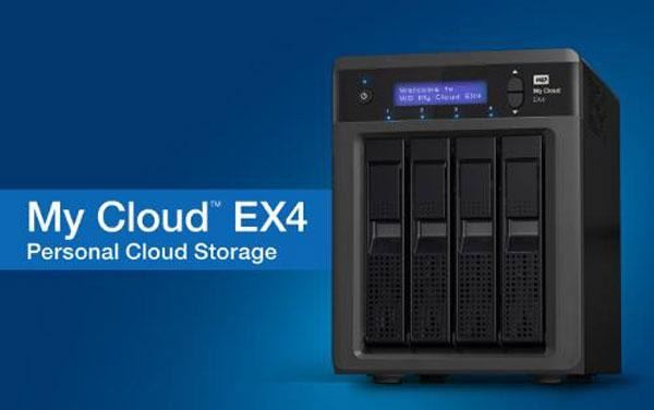 WD My Cloud EX4 four-bay personal cloud storage system holds up to 16 TB of data