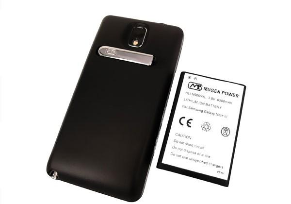 Samsung Galaxy Note 3 Mugen Power battery packs 6500 mAh of juice