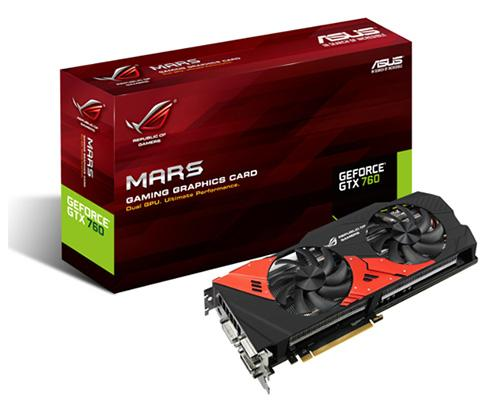 Asus Republic of Gamers Mars 760 video card has dual NVIDIA GTX 760 GPUs