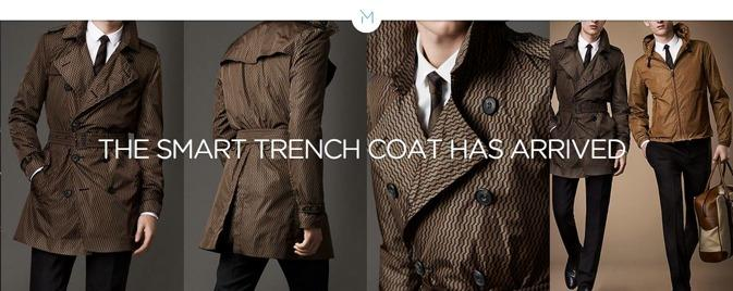 """Motiif """"M"""" smart trench coat offers integrated 4G LTE and smartphone charger"""