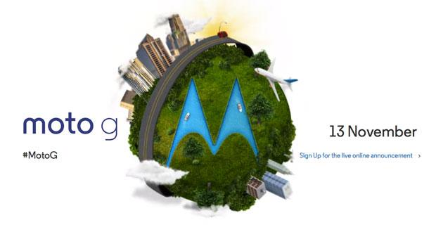 Motorola tips Moto G unveil for November 13