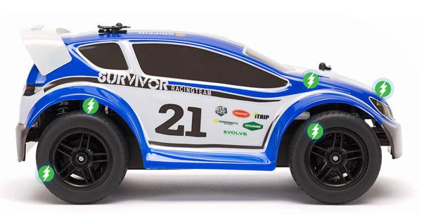 Griffin Moto TC Rally RC car is controlled by a smartphone app