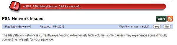High volume of PS4 logons causes PSN crashes