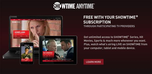 Showtime Anytime lands for Time Warner Cable subscribers
