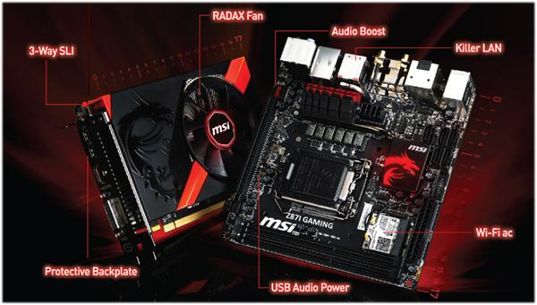 MSI Z871 Gaming AC and GTX760 Gaming ITX video card debut
