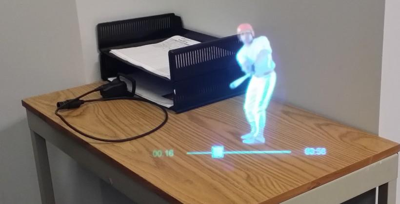 Baseball player Through waveguide