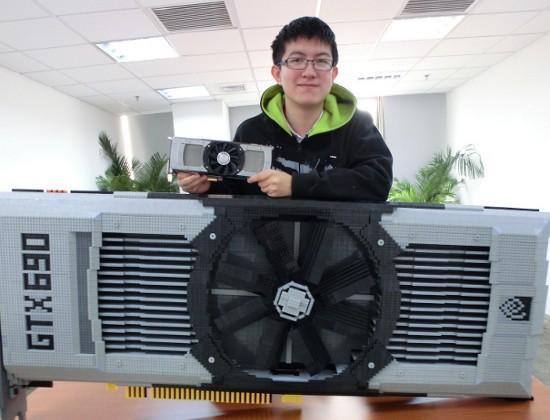 NVIDIA fan builds 11k piece LEGO replica of GTX 690