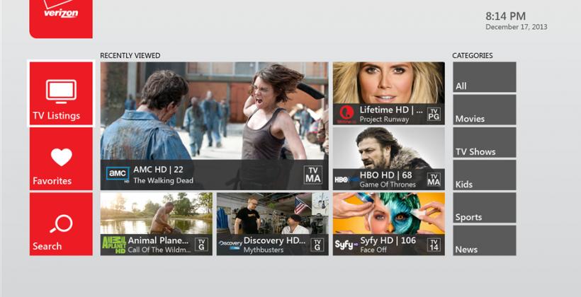 Xbox One Verizon FiOS TV app live with Xbox LIVE Gold