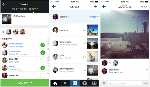 Instagram Direct makes private messaging a reality