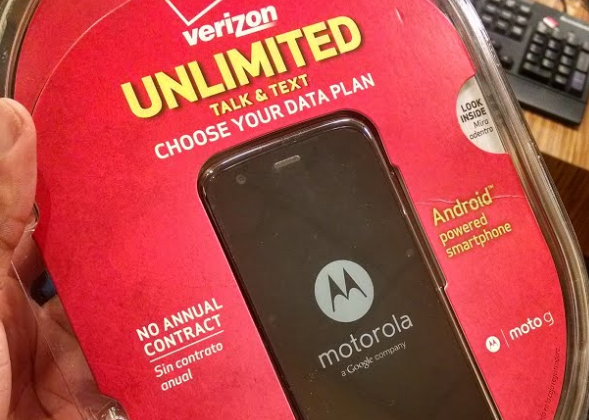 Moto G Verizon edition appears in blister pack weeks early