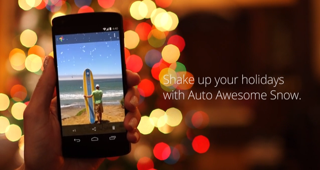 Google+ for Android turns your phone into a snowglobe