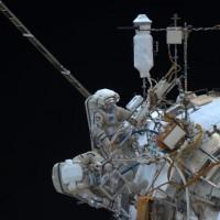 Cosmonauts break a spacewalk record, but HD camera telemetry fails