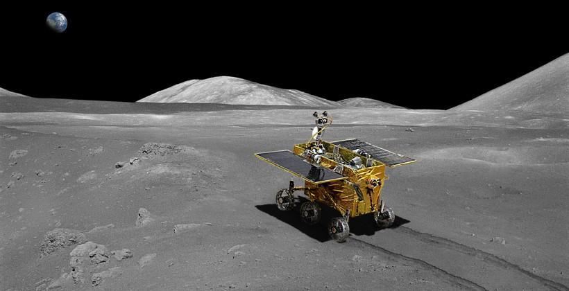 China's Chang'e-3 lander and Jade Rabbit rover land on moon