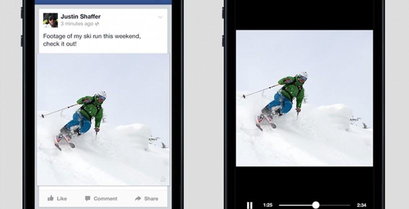 Facebook auto play video ads for advertisers announced