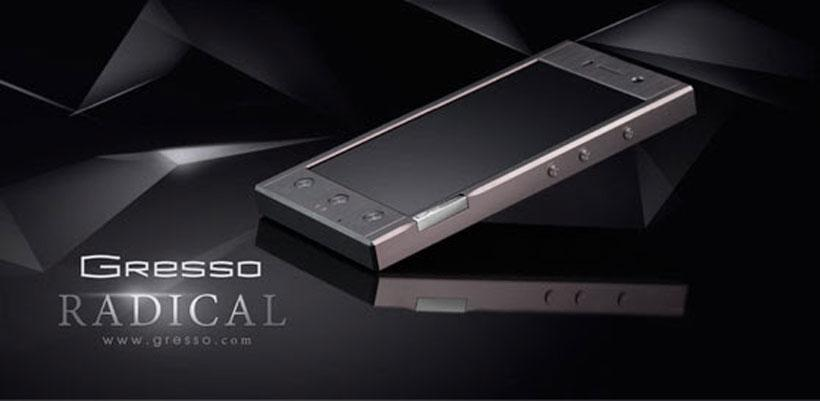 Gresso Radical smartphone runs Android 4.1.2 and quad-core 1.2 GHz CPU