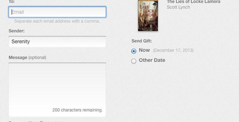 Apple iBookstore adds new gifting option