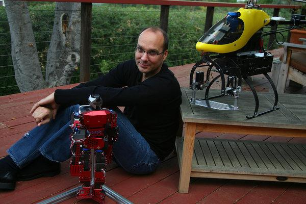 Andy Rubin behind Google robot moonshot