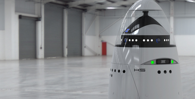 K5 security robot resembles a non-weaponized Dalek